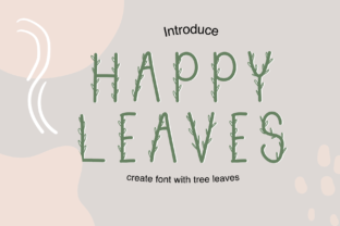 Print on Demand: Happy Leaves Script & Handwritten Font By CSDesign