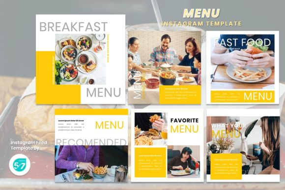 Instagram Feed Template - Menu Graphic Presentation Templates By 57creative