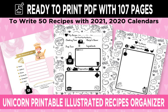 Print on Demand: KDP 50 Recipes Organizer Notebook Vol 4 Graphic KDP Interiors By Queen Dreams Store