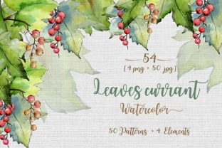 Print on Demand: Leaves Currant Watercolor Set Graphic Illustrations By MyStocks