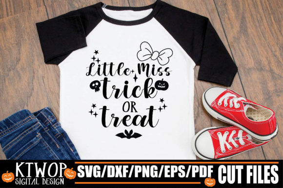 Little Miss Trick Or Treat Graphic By Ktwop Creative Fabrica