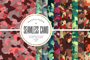 Print on Demand: Military Seamless Patterns Graphic Patterns By Sabina Leja