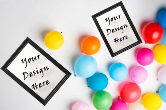 Mockup Party Frames, Ballons, Birthday Graphic Product Mockups By ArtStudio