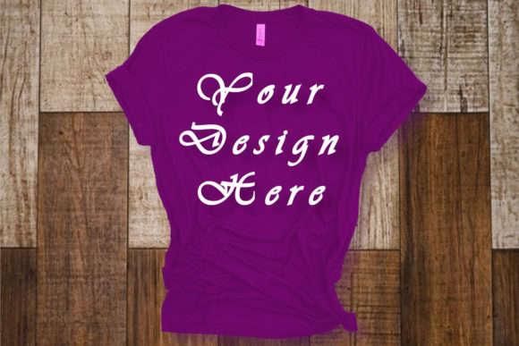Mockups Purple T-shirt Bella Canvas Graphic Product Mockups By Mockup Shop