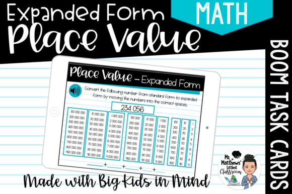 Place Value - Expanded Form Graphic Teaching Materials By Ms. Matthews Littlest Classroom