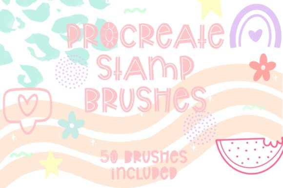 Procreate Doodle Stamp Brush Bundle Graphic Brushes By Fairways and Chalkboards