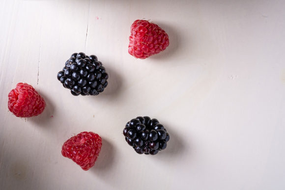 Print on Demand: Raspberry and Blackberry Berries Graphic Food & Drinks By frostroomhead
