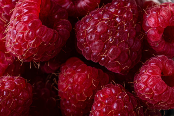 Print on Demand: Raspberry Macro Texture Background Graphic Food & Drinks By frostroomhead