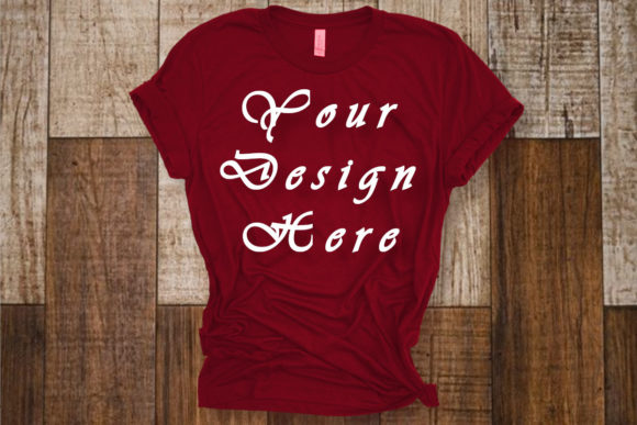 Red Bella Canvas T-shirt Mockups, Graphic Product Mockups By Mockup Shop