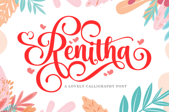 Print on Demand: Renitha Script & Handwritten Font By Holydie Studio