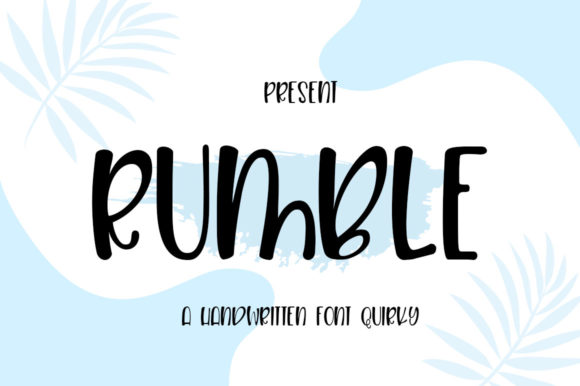 Print on Demand: Rumble Script & Handwritten Font By edwar.sp111