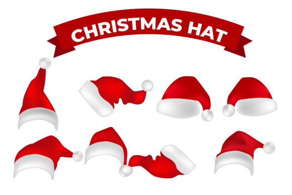 Santa Christmas Hat Graphic Illustrations By griyolabs