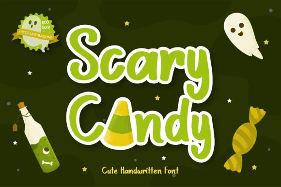 Print on Demand: Scary Candy Display Font By Helotype