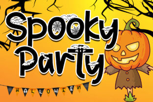 Print on Demand: Spooky Party Display Font By Stefani Letter