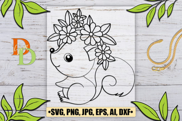 Squirrel Woodland Animal Graphic Crafts By denysdigitalshop