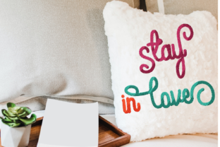 Print on Demand: Stay in Love Embroidery Lettering Wedding Quotes Embroidery Design By setiyadissi