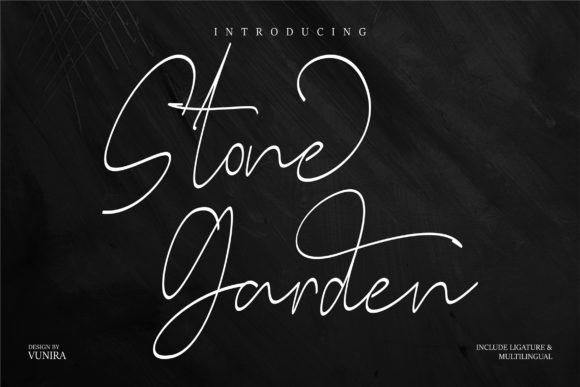 Print on Demand: Stone Garden Script & Handwritten Font By Vunira