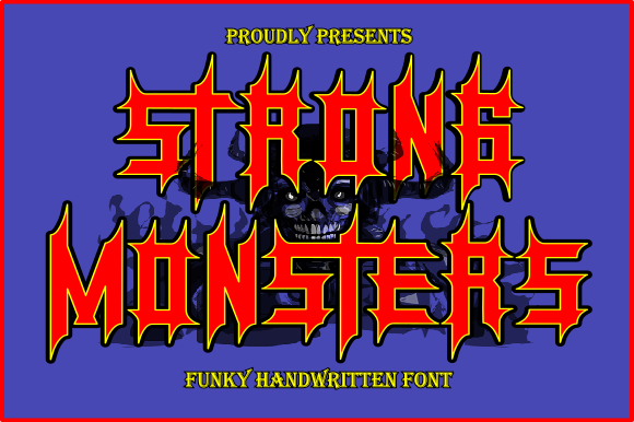 Print on Demand: Strong Monsters Blackletter Font By teguh pranata