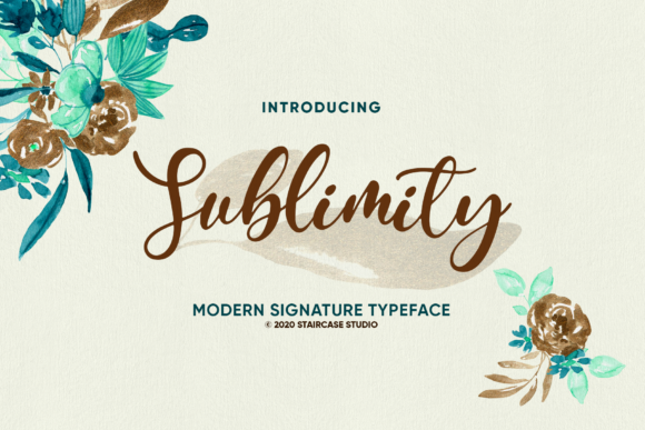 Print on Demand: Sublimity Script & Handwritten Font By staircasestudio20