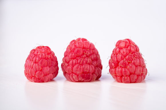 Print on Demand: Three Raspberry Tasty Sweet Bright Berry Graphic Food & Drinks By frostroomhead