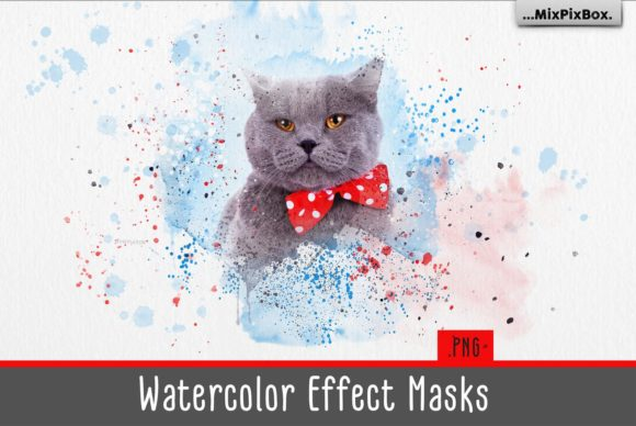 Print on Demand: Watercolor Effect Masks Graphic Layer Styles By MixPixBox