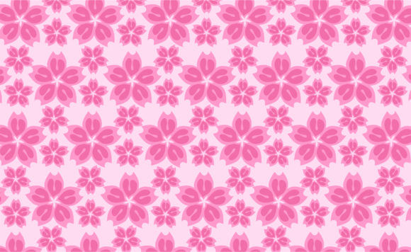 Print on Demand: Japanese Sakura Flower Pattern Graphic Crafts By Arief Sapta Adjie II