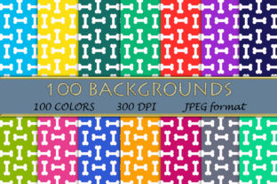 100 Dog Bone Pattern Digital Papers Graphic Backgrounds By SweetDesign