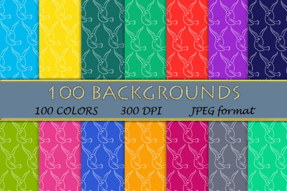 100 Dove Pattern Digital Papers Graphic Backgrounds By SweetDesign