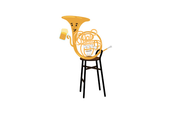 Beer French Horn Music Craft Cut File By Creative Fabrica Crafts
