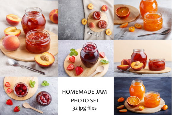 A Bundle of 32 Fruit Jam Photos Graphic Food & Drinks By Uladzimir Zgurski Photos