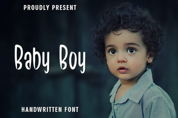 Print on Demand: Baby Boy Script & Handwritten Font By rangkaiaksara
