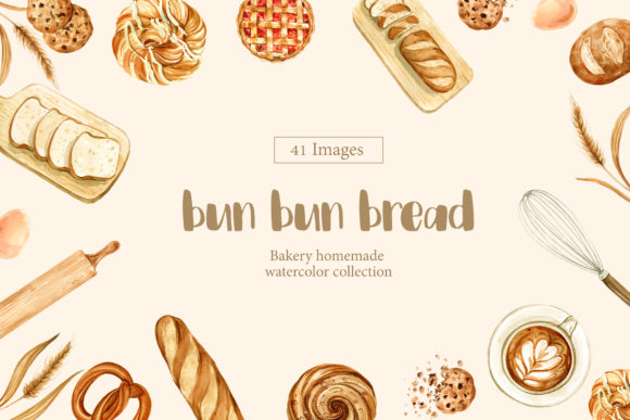 Bakery Homemade Watercolor Collection Graphic Illustrations By WatercolorEps