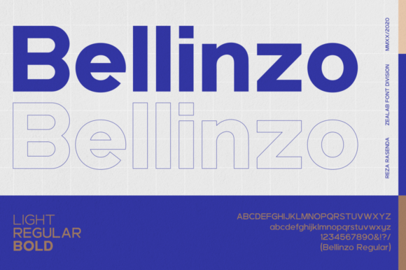 Print on Demand: Bellinzo Sans Serif Font By zealab fonts division