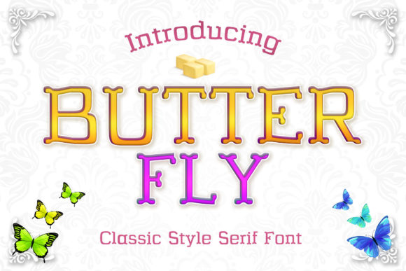 Print on Demand: Butterfly Serif Font By numnim