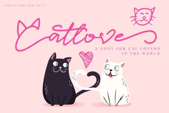 Print on Demand: Catlove Script & Handwritten Font By fontherapy