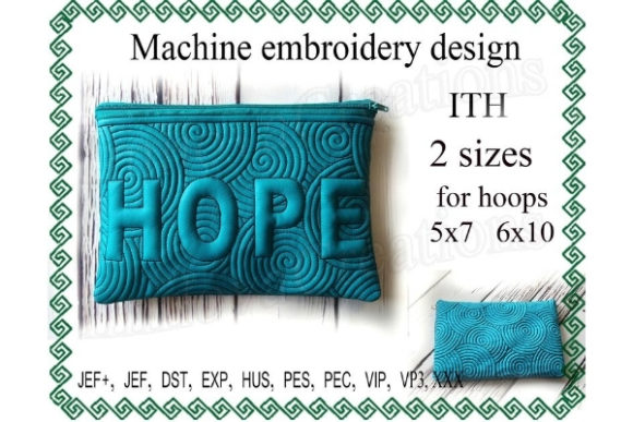 Cosmetic Bag Design in the Hoop Sewing & Crafts Embroidery Design By ImilovaCreations