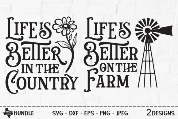 Print on Demand: Country Farm Life Bundle Graphic Crafts By texassoutherncuts