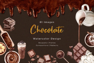 Craft Chocolate Watercolor Graphic Illustrations By WatercolorEps