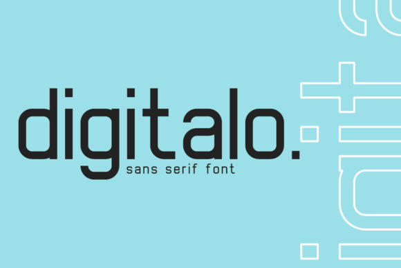 Print on Demand: Digitalo Sans Serif Font By Din Studio