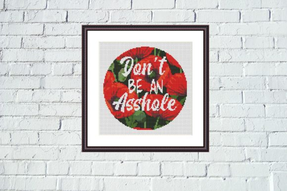 Don't Be Funny Cross Stitch Pattern Graphic Cross Stitch Patterns By Tango Stitch