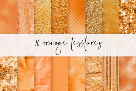 Fall Glitter Autumn Digital Papers Graphic Textures By Aneta Design