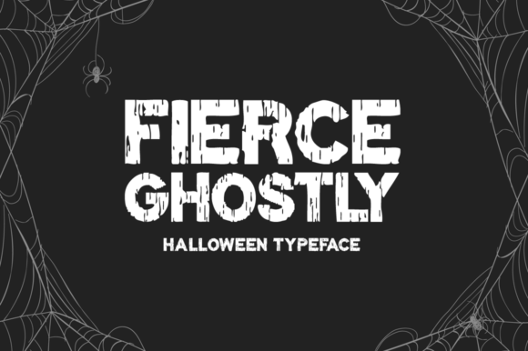 Print on Demand: Fierce Ghostly Display Font By Seemly Fonts