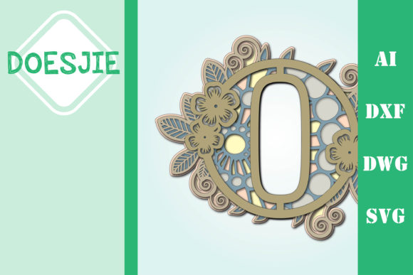 Flower Letter O Multi Layer Mandala Graphic 3D SVG By doesjie