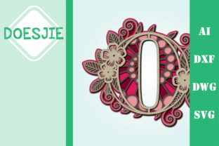 Flower Number 0 Multi Layer Mandala Graphic 3D SVG By doesjie