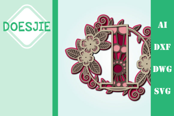 Flower Number 1 Multi Layer Mandala Graphic 3D SVG By doesjie