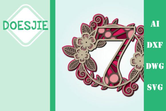 Flower Number 7 Multi Layer Mandala Graphic 3D SVG By doesjie