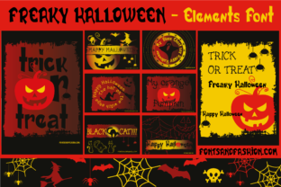 Print on Demand: Freaky Halloween Dingbats Font By Fontsandfashion