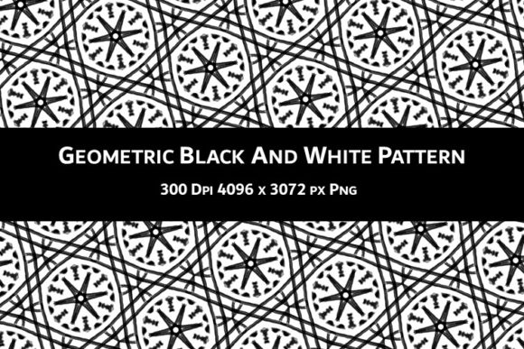 Print on Demand: Geometric Black and White Pattern V.31 Graphic Backgrounds By Fleur de Tango