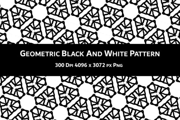 Print on Demand: Geometric Black and White Pattern V.47 Graphic Backgrounds By Fleur de Tango