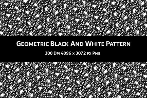 Print on Demand: Geometric Black and White Pattern V.66 Graphic Backgrounds By Fleur de Tango